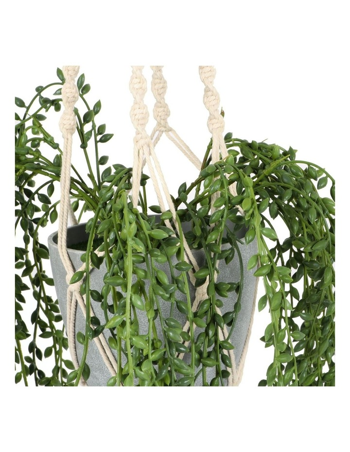 90cm Artificial Pearl Hanging Potted Plant image 2