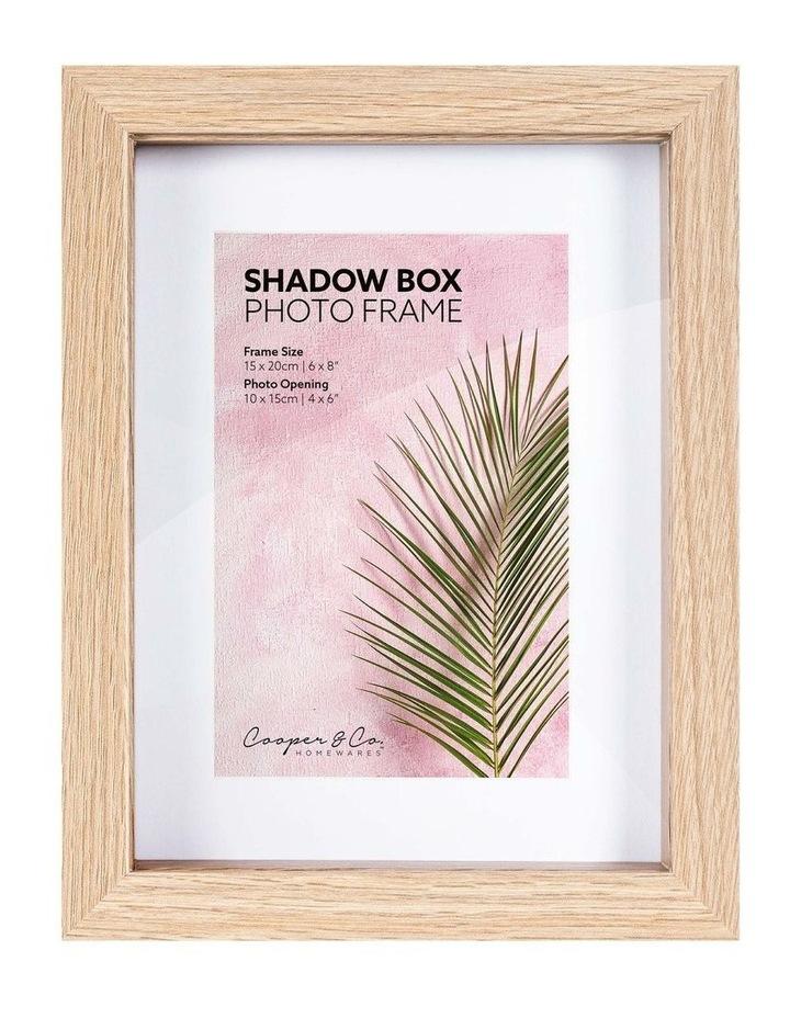 15X20cm/10X15cm Set of 2 Oak Shadow Box Wooden Photo Frame image 1