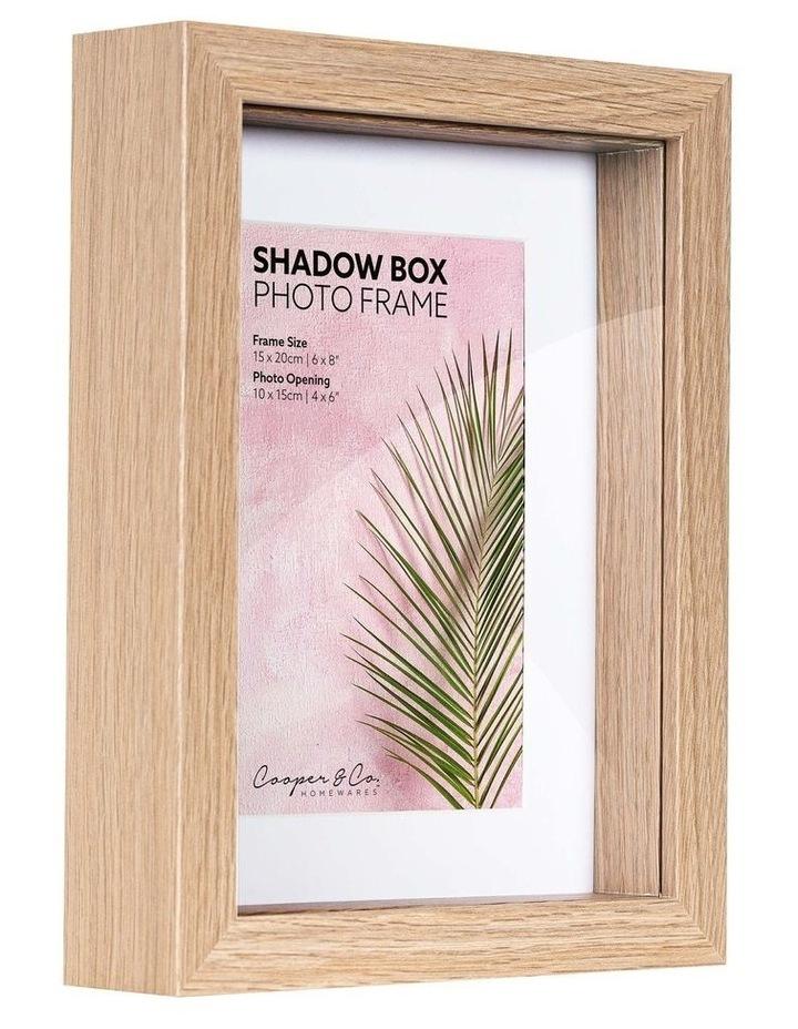 15X20cm/10X15cm Set of 2 Oak Shadow Box Wooden Photo Frame image 2