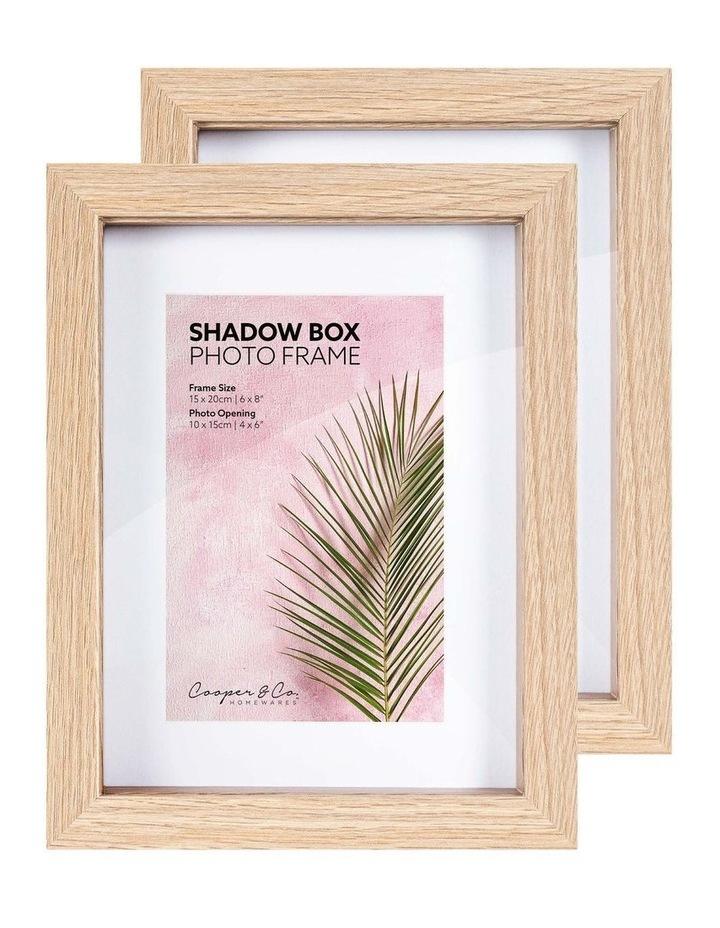 15X20cm/10X15cm Set of 2 Oak Shadow Box Wooden Photo Frame image 5