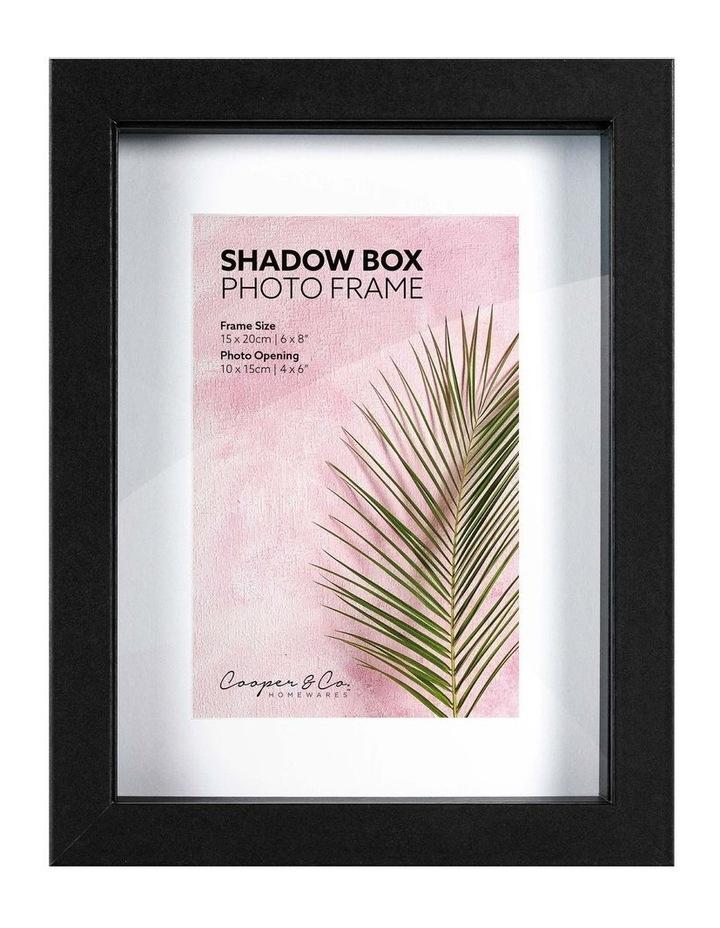 15X20cm/10X15cm Set of 2 Black Shadow Box Wooden Photo Frame image 1