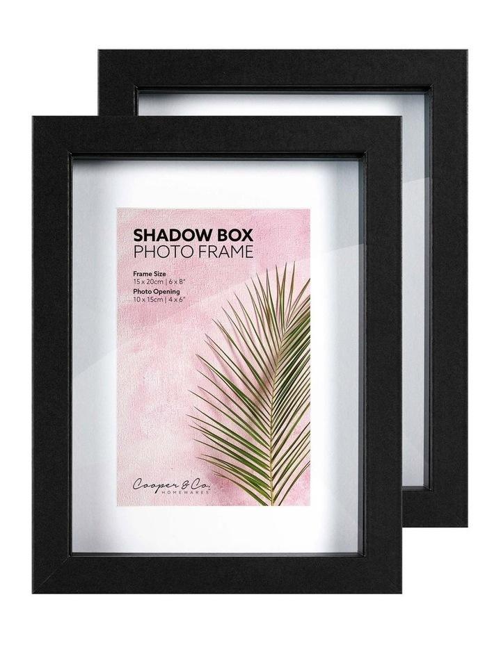 15X20cm/10X15cm Set of 2 Black Shadow Box Wooden Photo Frame image 3
