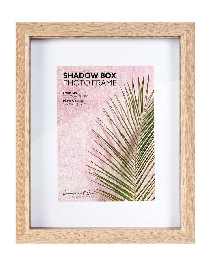 20X25cm/13X18cm Set of 2 Oak Shadow Box Wooden Photo Frame image 1