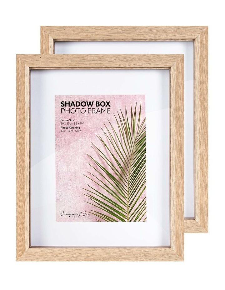 20X25cm/13X18cm Set of 2 Oak Shadow Box Wooden Photo Frame image 3