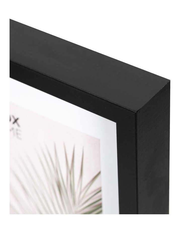 Set of 2 20x25cm mat to 13x18cm Set of 2 Black Shadow Box Wooden Photo Frame image 4