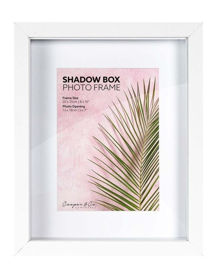 20X25cm/13X18cm Set of 2 White Shadow Box Wooden Photo Frame image 1