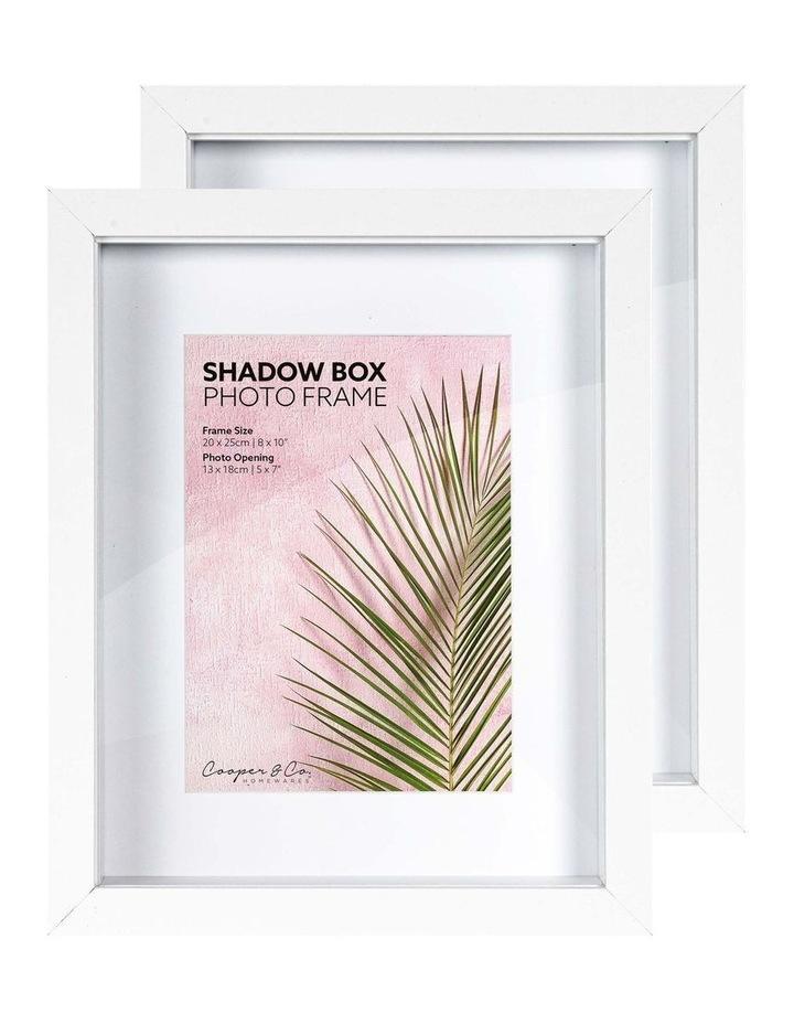 20X25cm/13X18cm Set of 2 White Shadow Box Wooden Photo Frame image 3