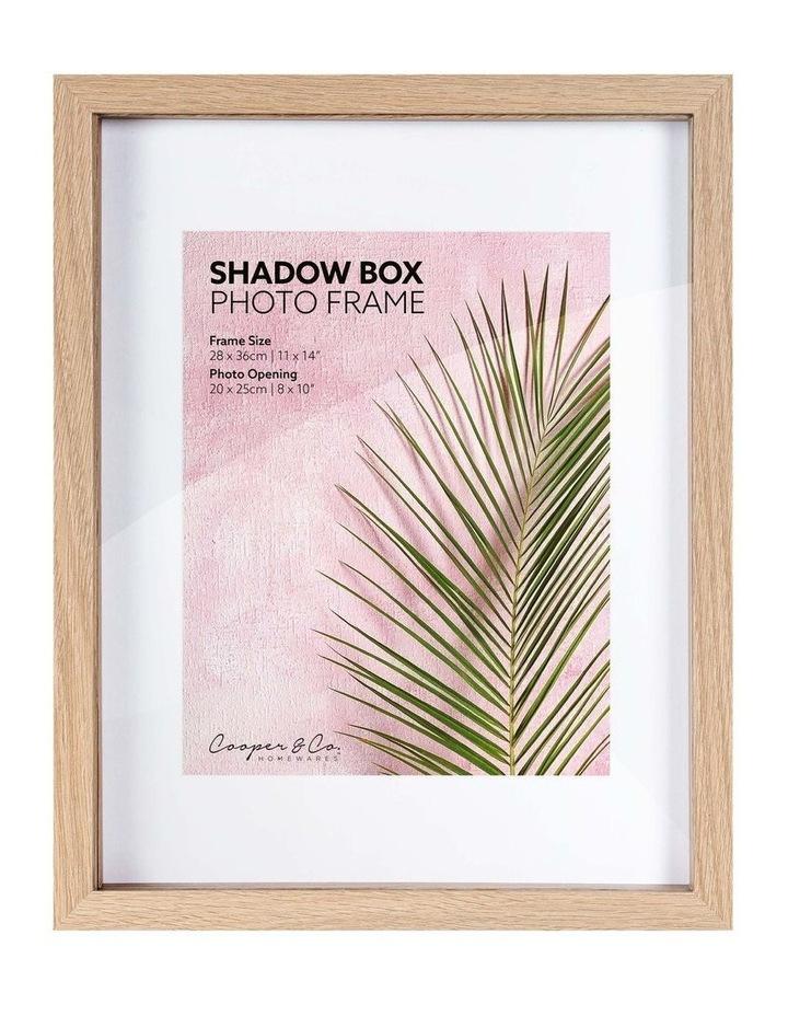 Set of 2 28x36cm mat to 20x25cm Set of 2 Oak Shadow Box Wooden Photo Frame image 1
