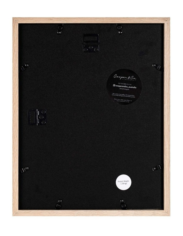 Set of 2 28x36cm mat to 20x25cm Set of 2 Oak Shadow Box Wooden Photo Frame image 2
