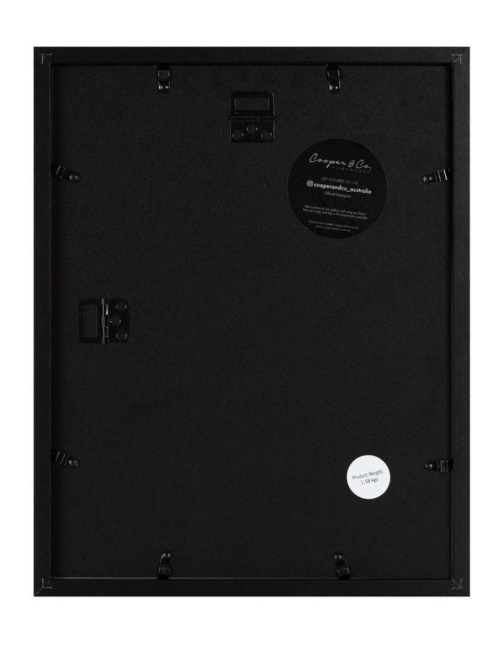 Set of 2 28x36cm mat to 20x25cm Set of 2 Black Shadow Box Wooden Photo Frame image 2