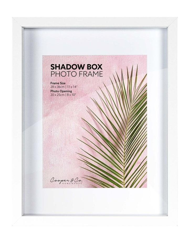 28X36cm/20X25cm Set of 2 White Shadow Box Wooden Photo Frame image 1