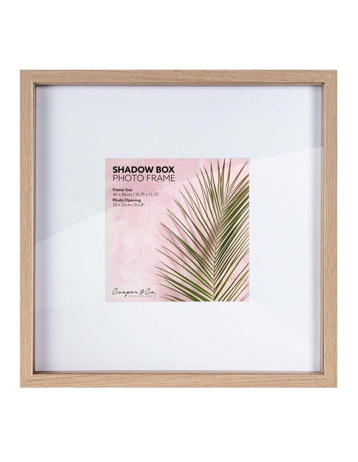 40X40cm/20X20cm Set of 2 Oak Shadow Box Wooden Photo Frame image 1
