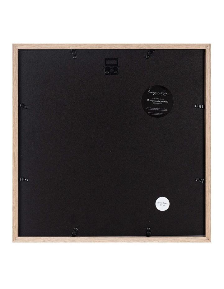 40X40cm/20X20cm Set of 2 Oak Shadow Box Wooden Photo Frame image 2