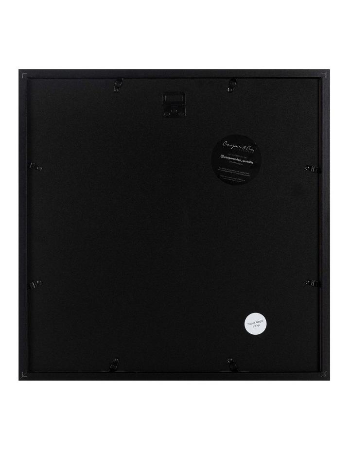 Set of 2 40x40cm mat to 20x20cm Set of 2 Black Shadow Box Wooden Photo Frame image 2