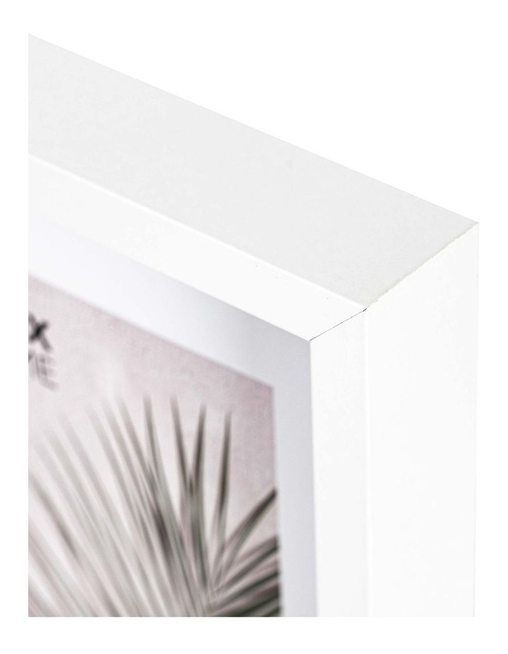 Set of 2 40x40cm mat to 20x20cm Set of 2 White Shadow Box Wooden Photo Frame image 4