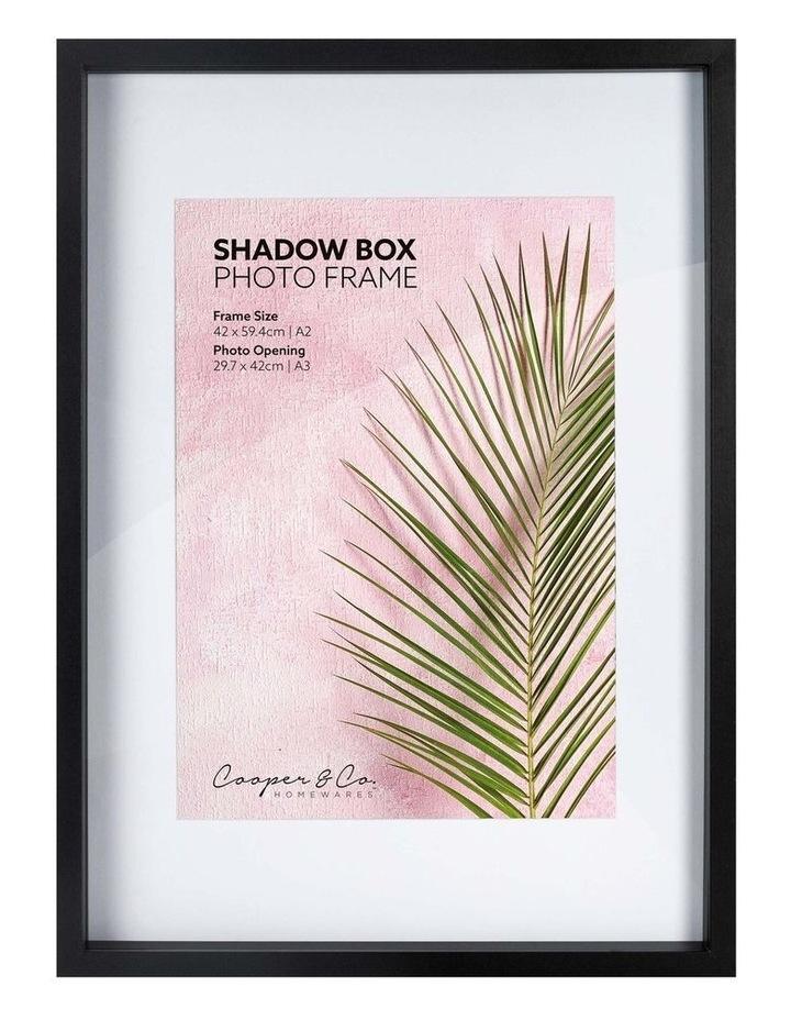 A2/A3 Black Black Shadow Box Wooden Photo Frame image 1