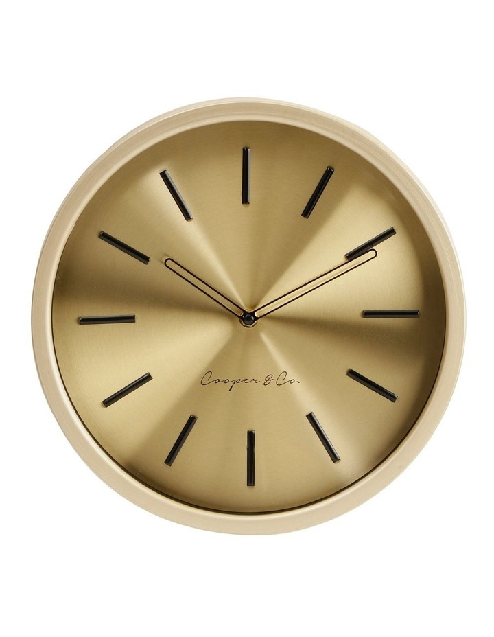 30cm Metallic Gold Silent Movement Round Wall Clock image 1
