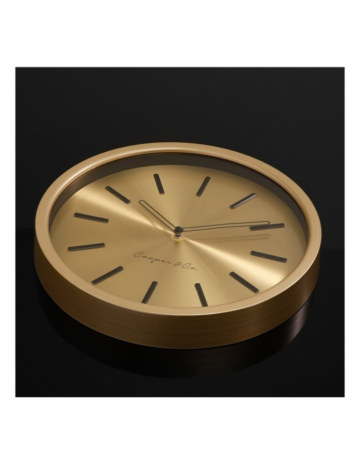 30cm Metallic Gold Silent Movement Round Wall Clock image 3