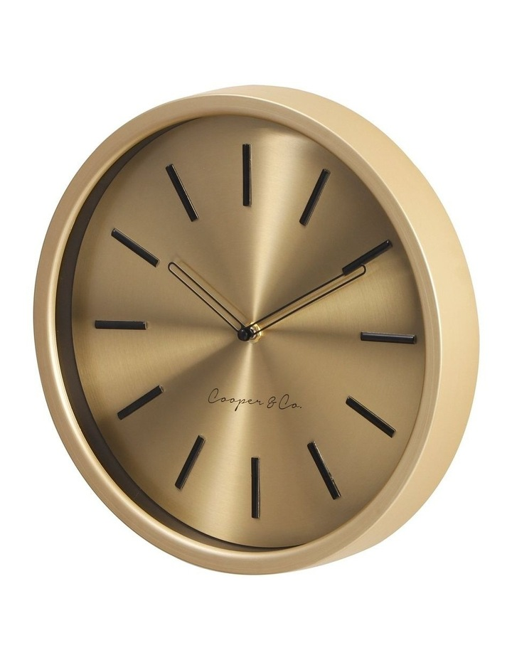 30cm Metallic Gold Silent Movement Round Wall Clock image 4