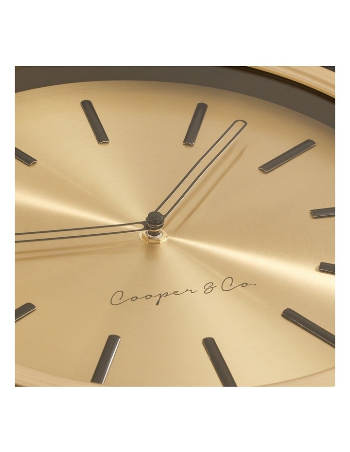 30cm Metallic Gold Silent Movement Round Wall Clock image 7