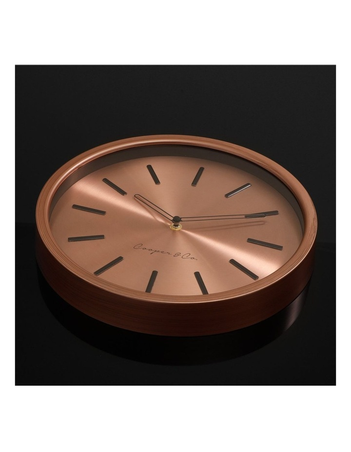 30cm Metallic Copper Silent Movement Round Wall Clock image 3