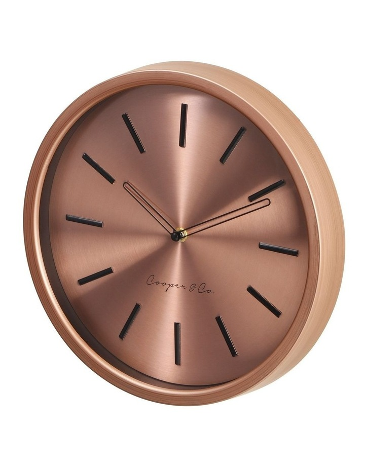 30cm Metallic Copper Silent Movement Round Wall Clock image 4