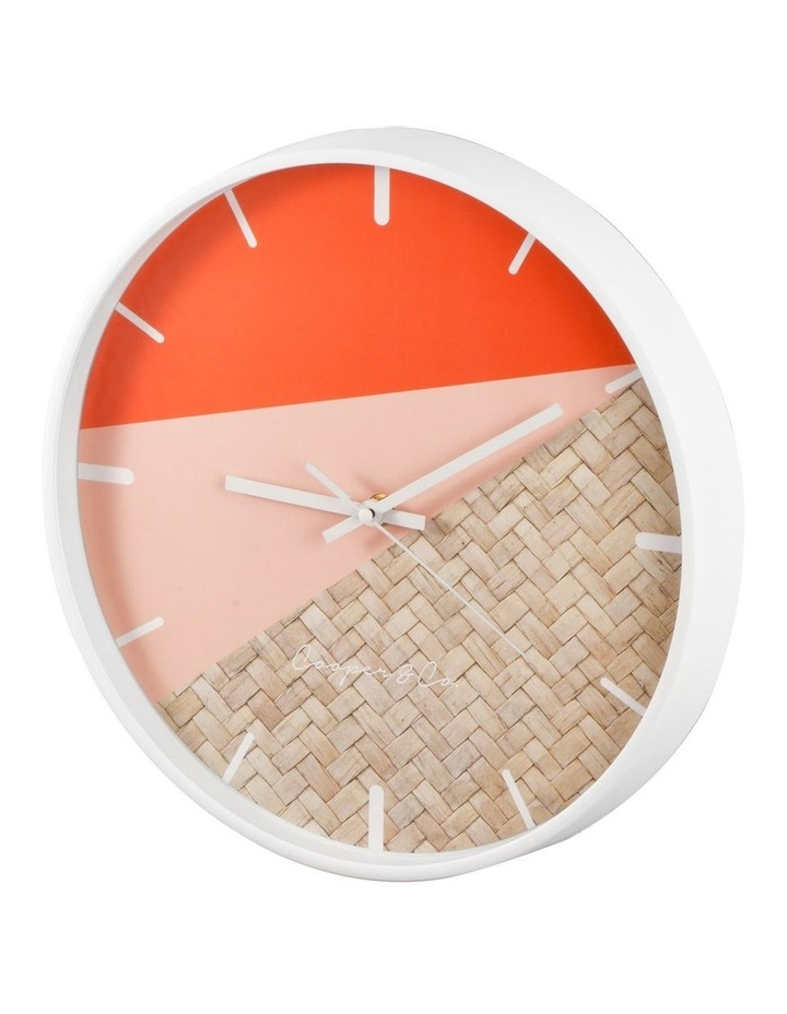30cm Watermelon/Rattan Cayman Silent Movement Round Wall Clock image 4