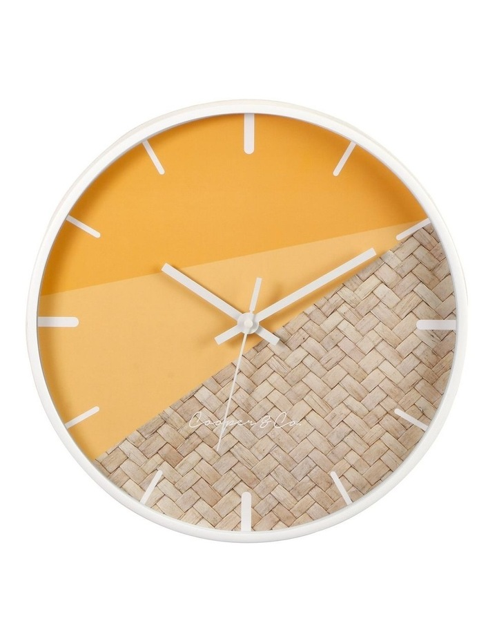 30cm O/Rattan Cayman Silent Movement Round Wall Clock image 1