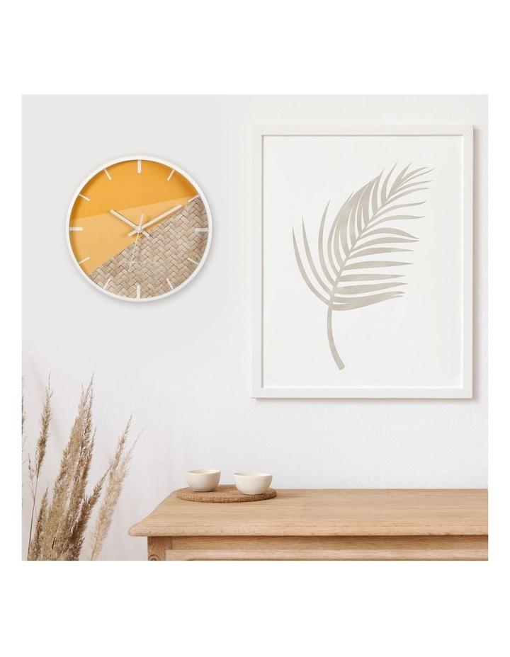 30cm O/Rattan Cayman Silent Movement Round Wall Clock image 2