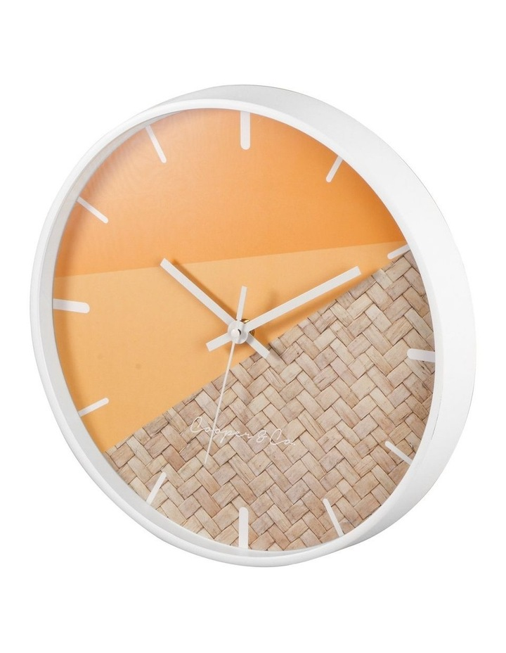 30cm O/Rattan Cayman Silent Movement Round Wall Clock image 3