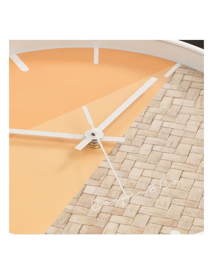 30cm O/Rattan Cayman Silent Movement Round Wall Clock image 5