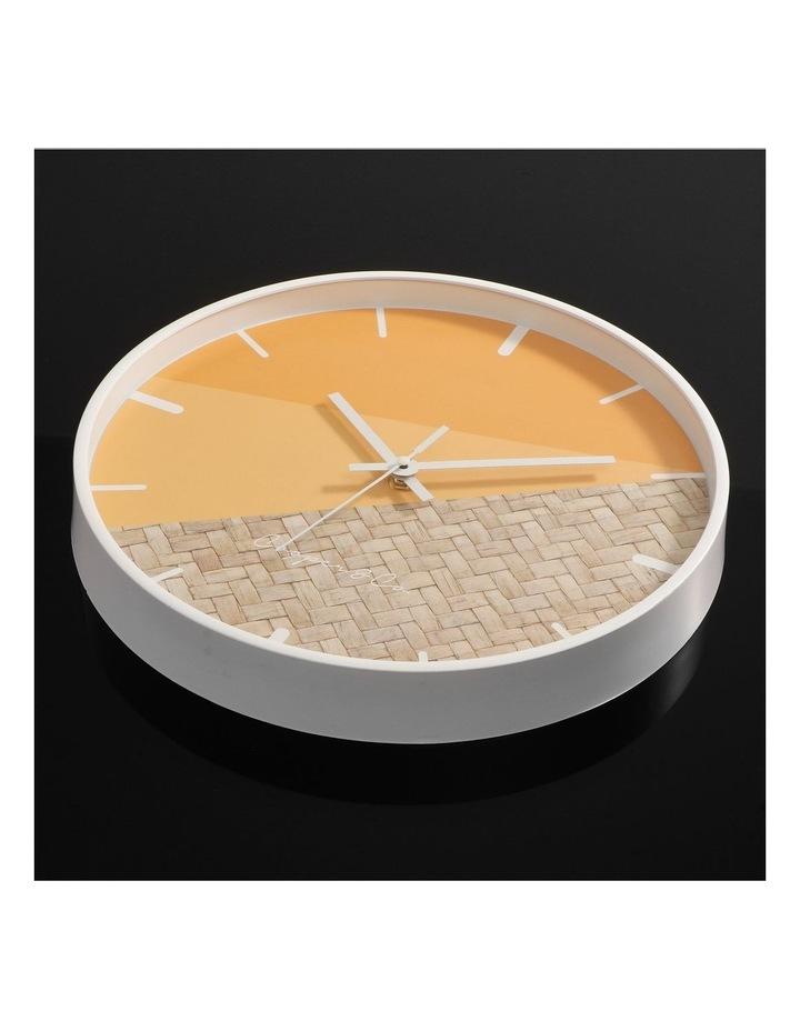 30cm O/Rattan Cayman Silent Movement Round Wall Clock image 7