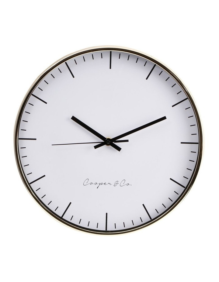 30cm Gold Nelson Silent Movement Round Wall Clock image 1