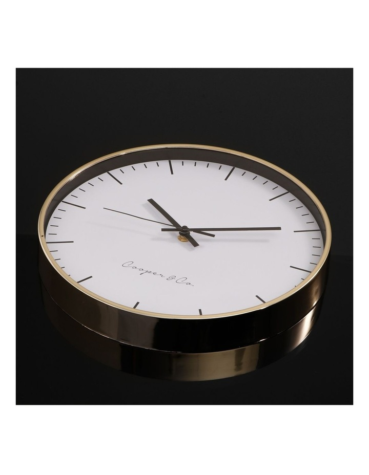 30cm Gold Nelson Silent Movement Round Wall Clock image 3