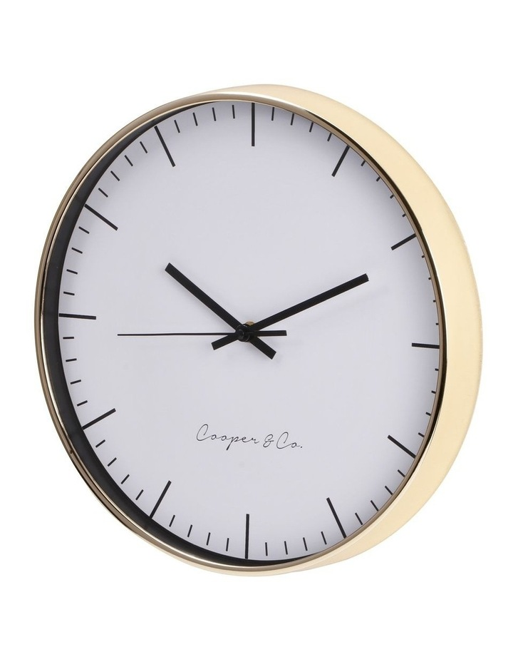 30cm Gold Nelson Silent Movement Round Wall Clock image 4