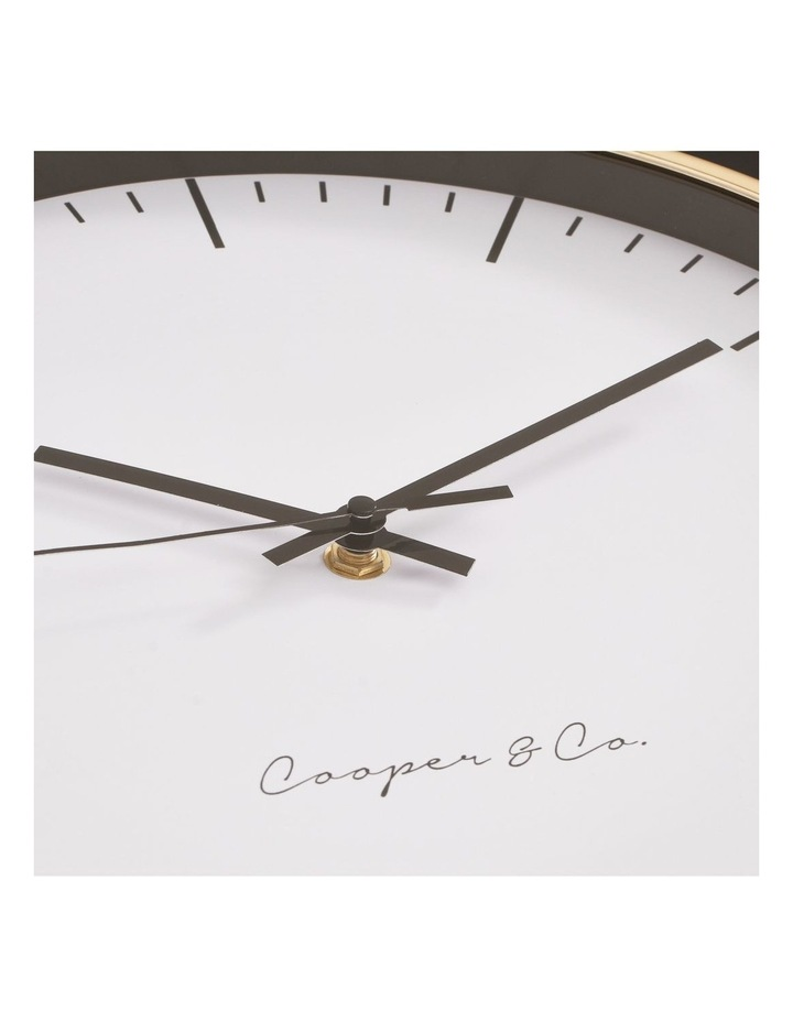 30cm Gold Nelson Silent Movement Round Wall Clock image 5