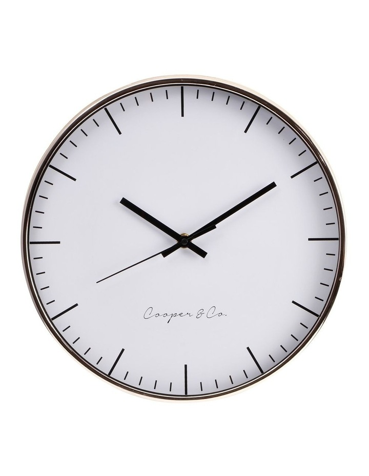 30cm Rose Gold Nelson Silent Movement Round Wall Clock image 1