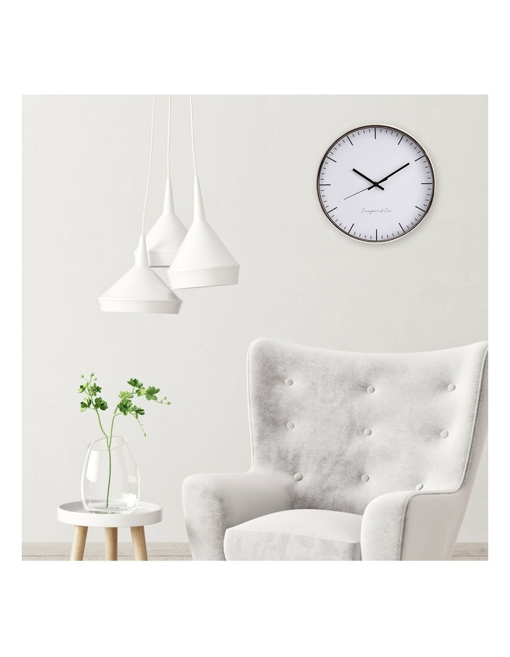 30cm Rose Gold Nelson Silent Movement Round Wall Clock image 2