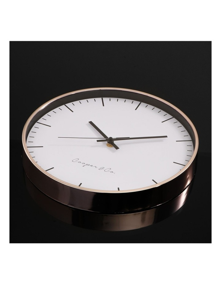 30cm Rose Gold Nelson Silent Movement Round Wall Clock image 3