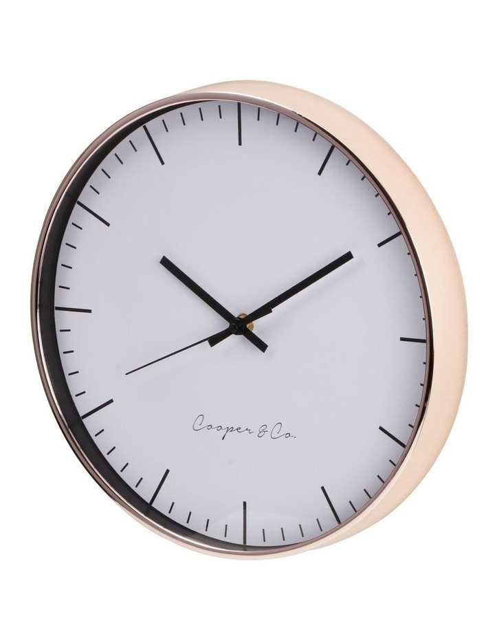 30cm Rose Gold Nelson Silent Movement Round Wall Clock image 4