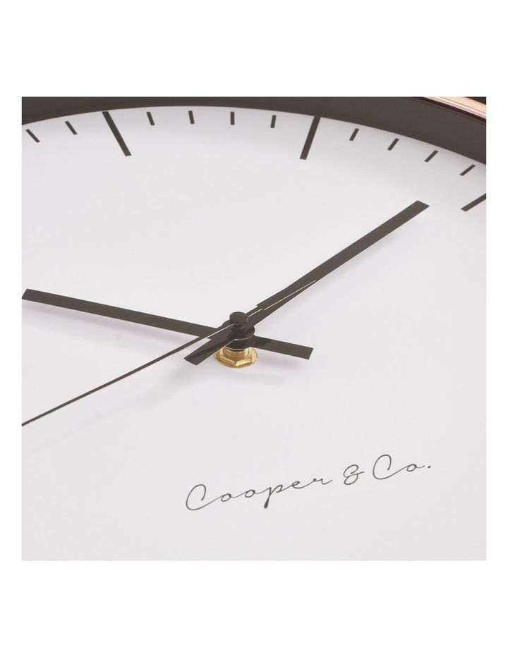 30cm Rose Gold Nelson Silent Movement Round Wall Clock image 5