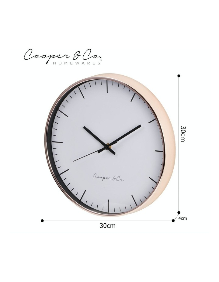 30cm Rose Gold Nelson Silent Movement Round Wall Clock image 7
