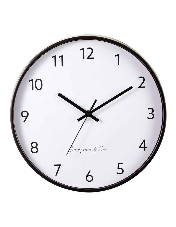 30cm Black Anderson Silent Movement Round Wall Clock image 1