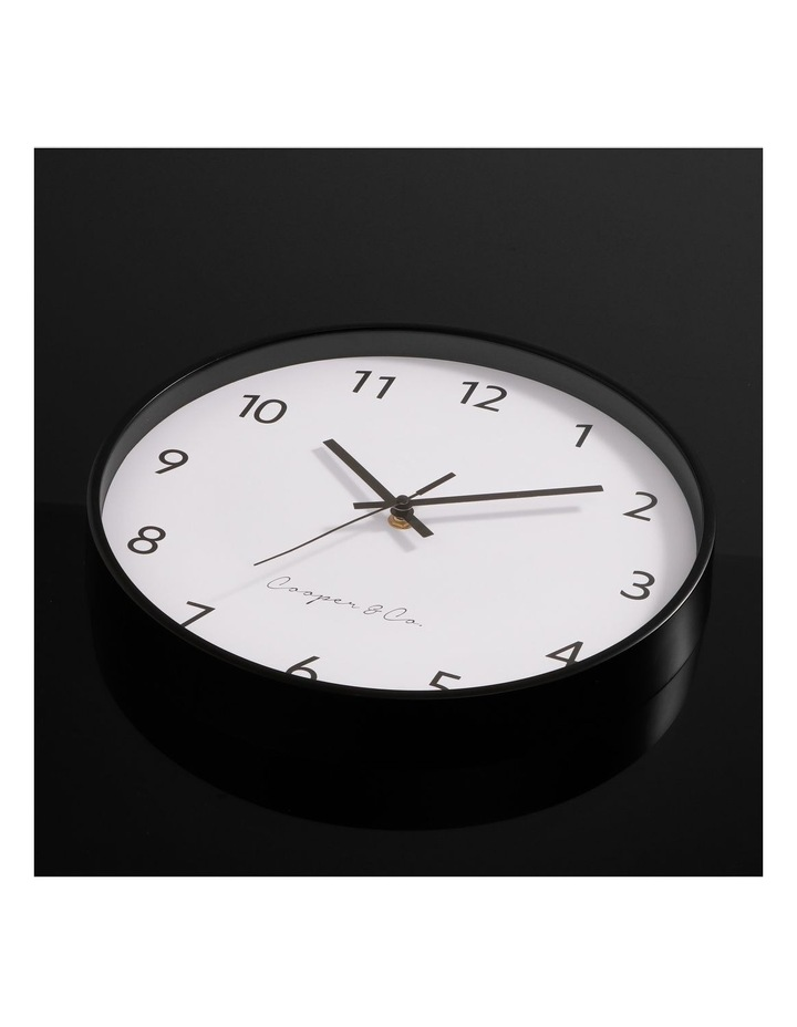 30cm Black Anderson Silent Movement Round Wall Clock image 3