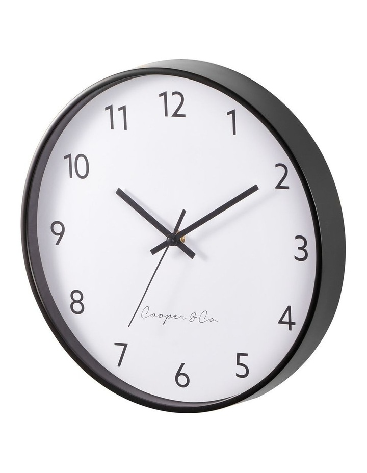 30cm Black Anderson Silent Movement Round Wall Clock image 4