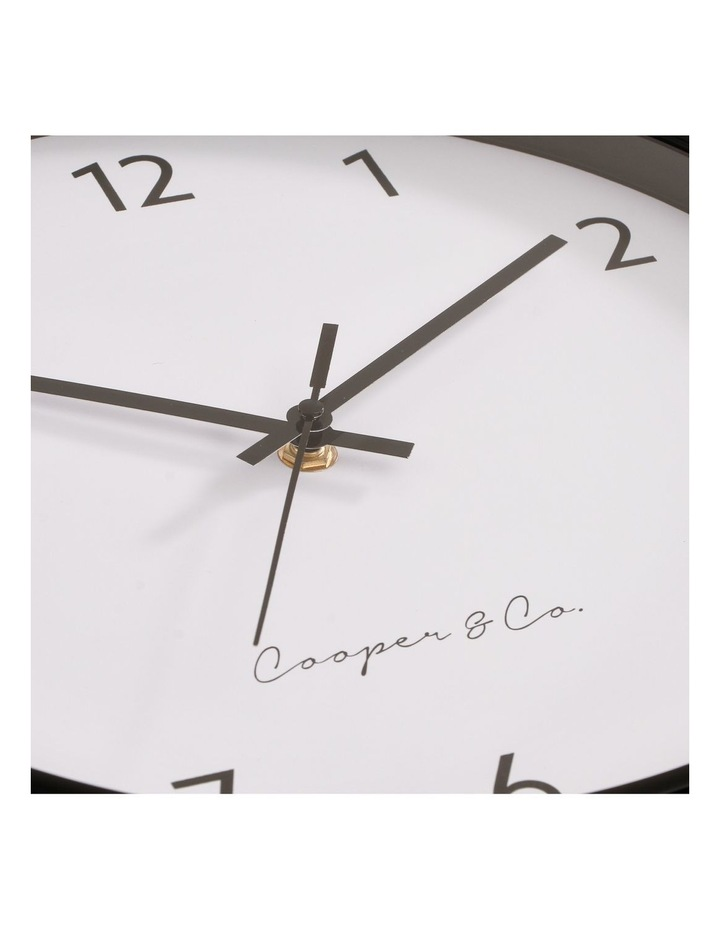 30cm Black Anderson Silent Movement Round Wall Clock image 5