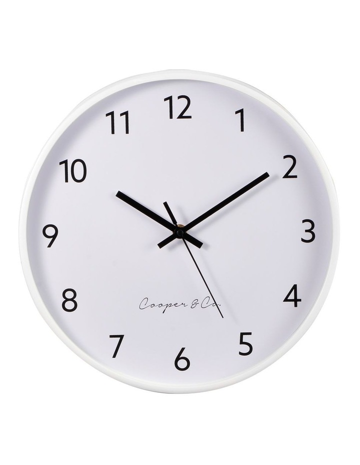 30cm White Anderson Silent Movement Round Wall Clock image 1