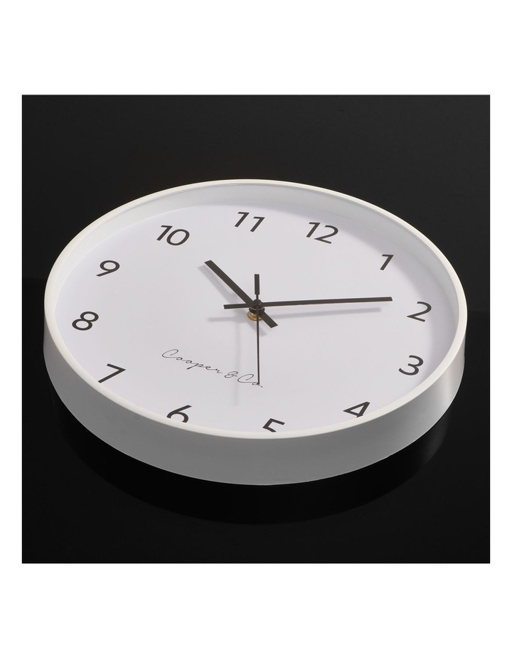 30cm White Anderson Silent Movement Round Wall Clock image 3