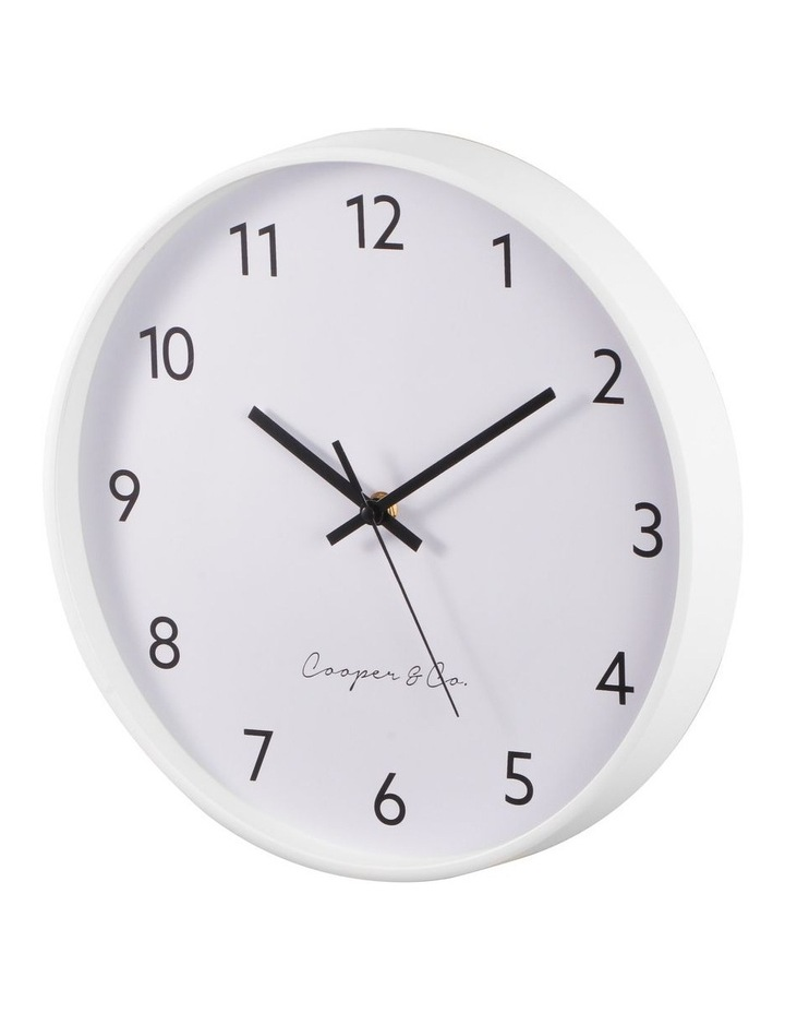 30cm White Anderson Silent Movement Round Wall Clock image 4