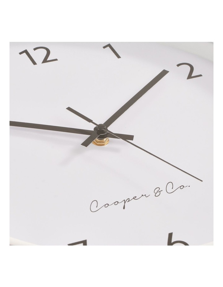 30cm White Anderson Silent Movement Round Wall Clock image 5